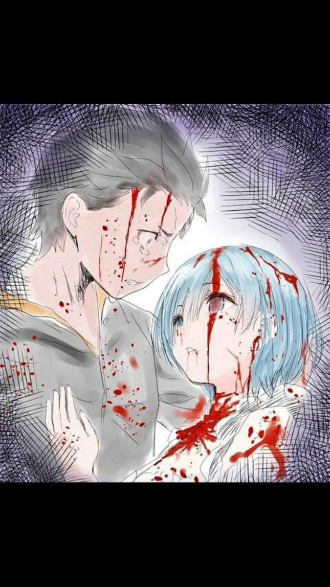 主人公が涙流しながらヒロインを抱き抱えてるシーンてほんとに心打たれる。#リゼロ#七つの大罪#東京レイブンズ#地獄先生ぬー
