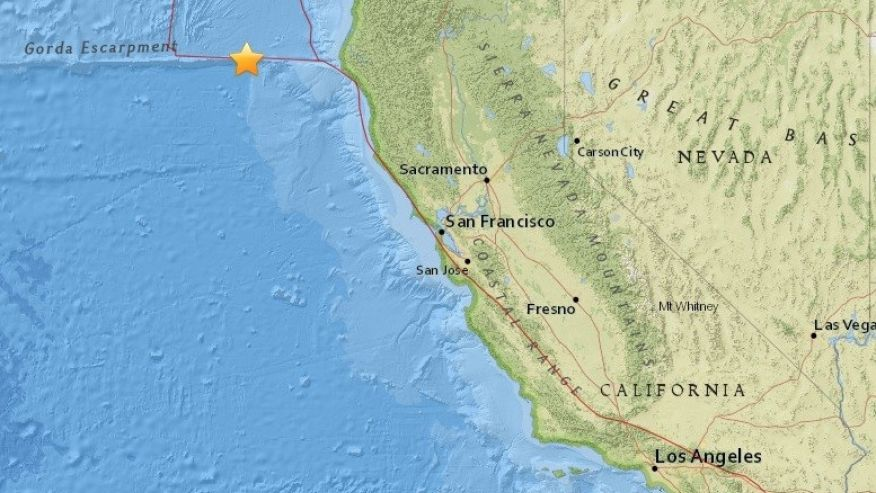 Magnitude-6.5 earthquake reported off Northern California |