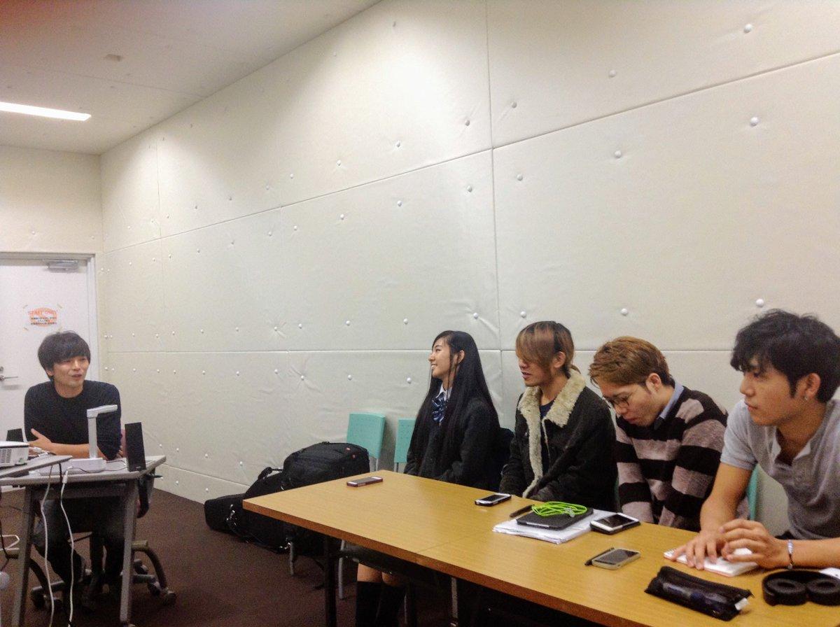 ヴォーカルの学生を対象に、特別授業を実施しました♪講師は大西重臣さん。ORANGE RANGE、Sky's The Li