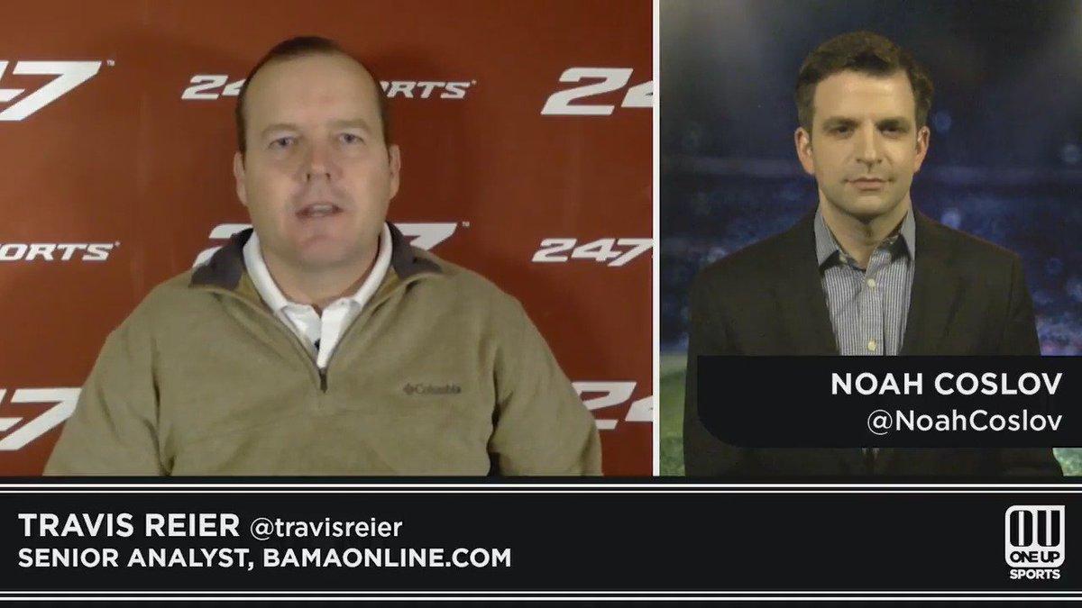 Sark as Alabama's next OC? Not so fast... Watch @TravisReier @BamaOnline247 with @NoahCoslov. #RollTide https://t.co/VCuiMUbgQ8