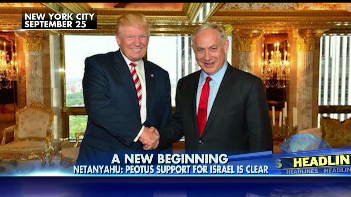 Netanyahu on @realDonaldTrump: 'His Support for Israel Is Clear' @foxandfriends https://t.co/g77Tbj65JW