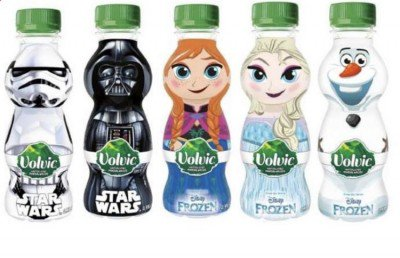 Free Volvic Frozen & Star Wars Water Bottle - free freebies freestuff latestfreestuff
