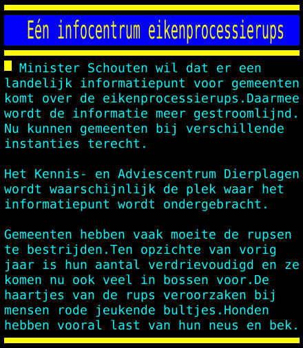 test Twitter Media - Eén infocentrum eikenprocessierups https://t.co/KJVFC0NgMw