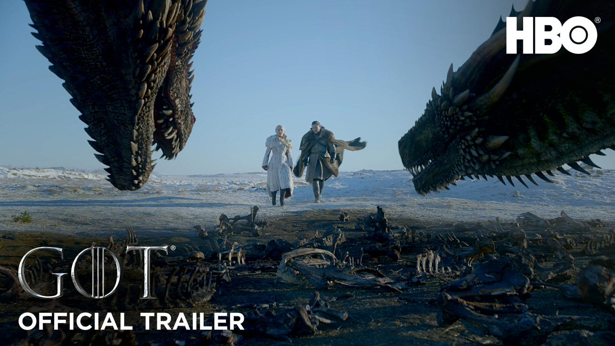 RT @GameOfThrones: The trailer is here. #GameofThrones https://t.co/L48jOwsUzn