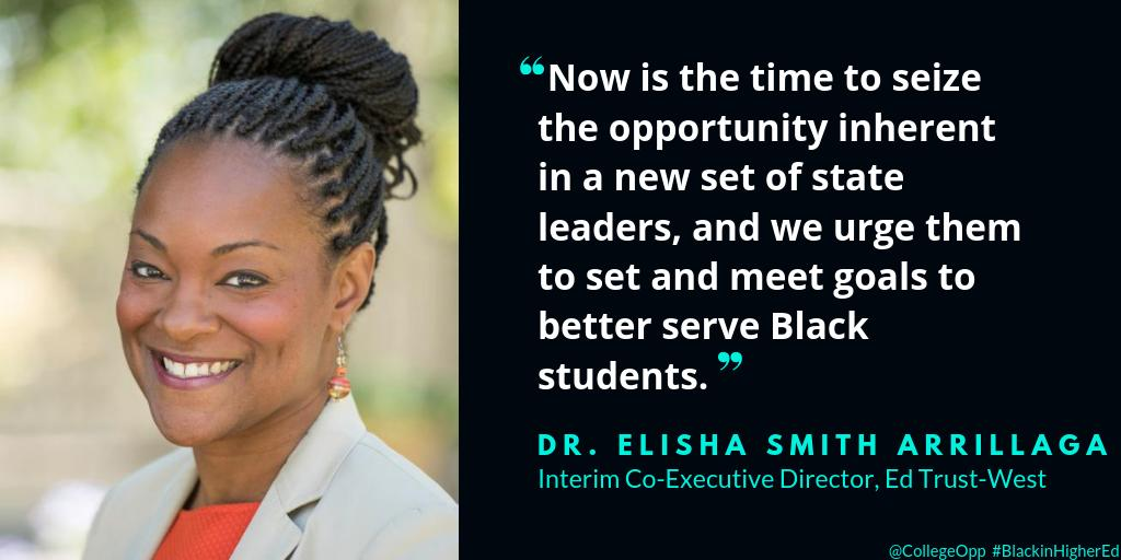 Now is the time to ensure black student success! @ESArrillaga  #BlackInHigherEd #BlackMindsMatter @EdTrustWest https://t.co/oW30o8DzvG