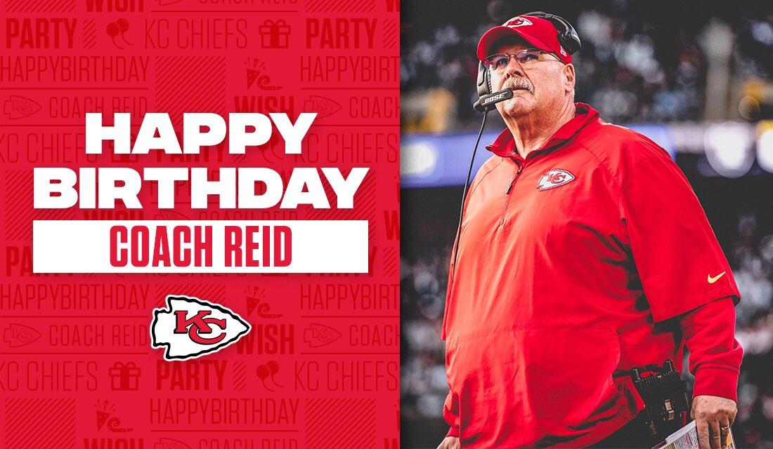 RT @Chiefs: RT to wish Coach Andy Reid a happy birthday! 🎈🎊 https://t.co/AkdG6ZasIU