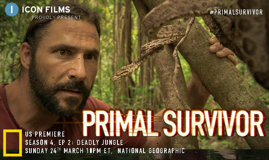 Tune in #USA for #AllNew #PrimalSurvivor. Watch @HazenAudel trek through hostile deep jungle in the next episode screening Sunday 24 March 10pm ET @NatGeoChannel @NatGeo https://t.co/uZm2LPYgMD