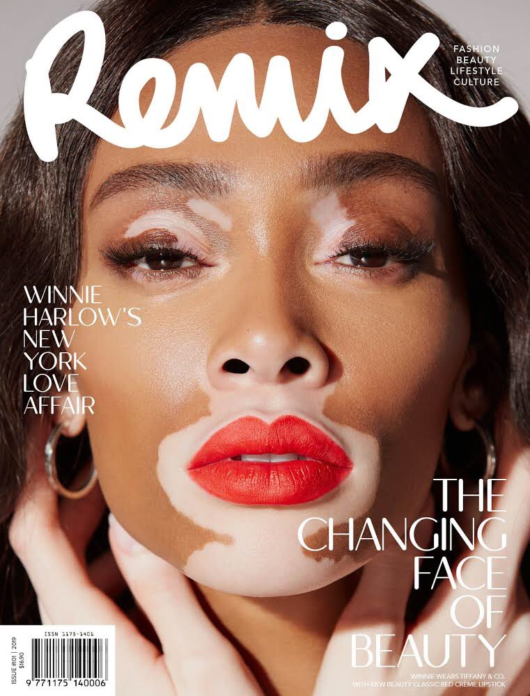 So gorgeous!!! @winnieharlow wearing #KKWBEAUTY Classic Red Crème Lipstick for @REMIXmagazine https://t.co/gvIN1nVDiI