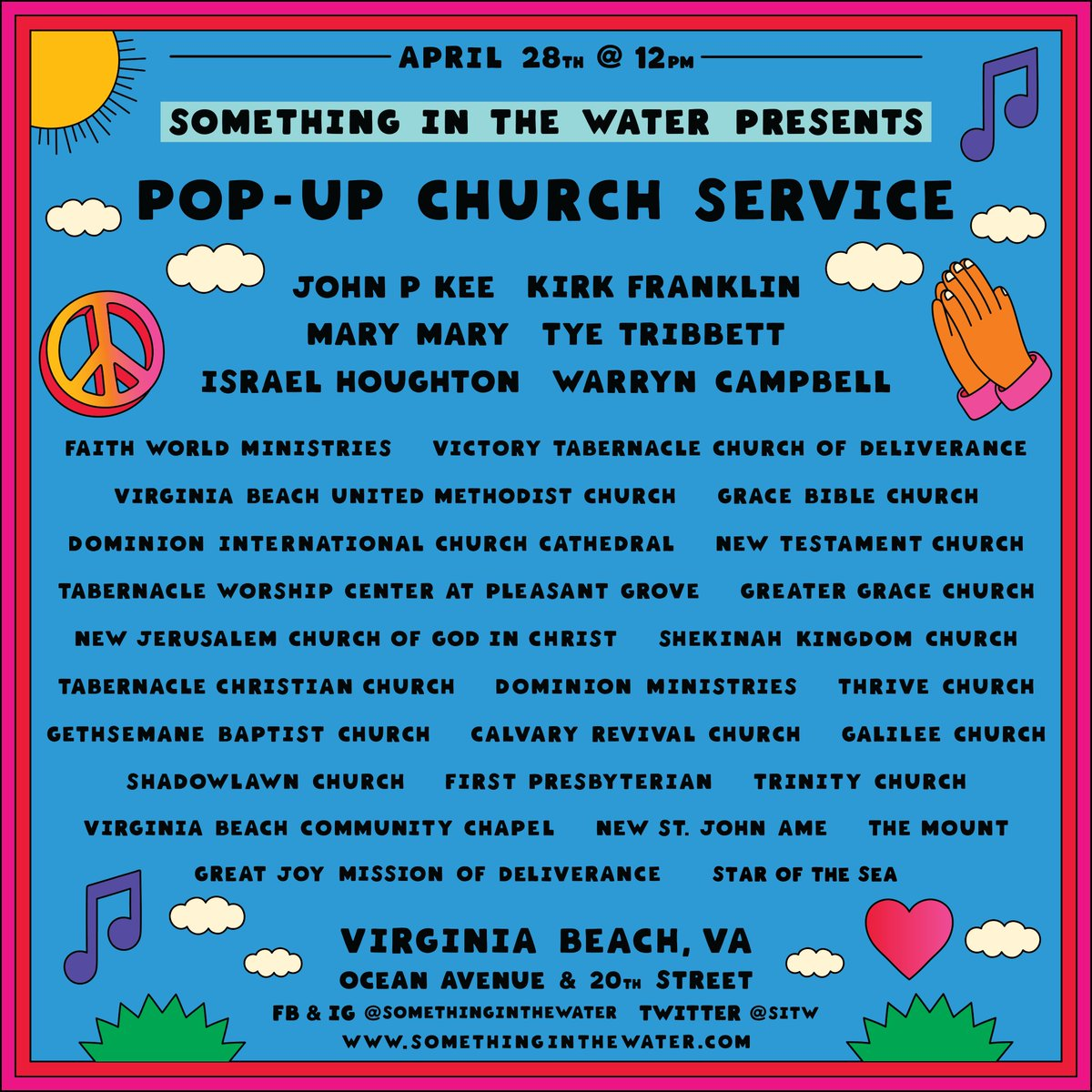 RT @sitw: The #SITWfest Pop-Up Church lineup is HERE! Happening on Sunday of the festival. Come join us ???????? https://t.co/CtWmGeOfWR