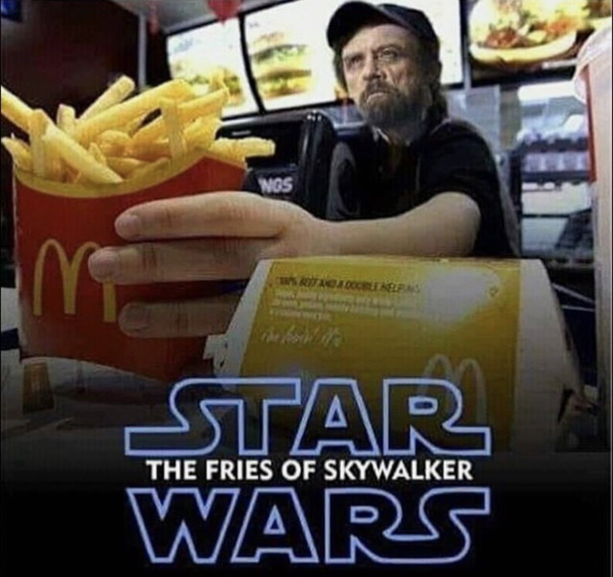 test Twitter Media - If you don't count paperboy, the time I was hired to play Santa's helper in a department store or the countless backyard puppet/magic/ventriloquist shows I did... My 1st real job WAS at McDonald's in Annandale Virginia when I was 16. #MinimumWageMemories #TheFriesOfSkywalker 🍟 https://t.co/m7UQfvxYNG