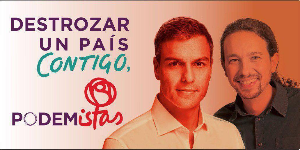 RT @antigilis: Con Sánchez e Iglesias ya sabemos dónde vamos ▶️a una dictadura  #VamosAGanar #ElDebateDecisivo https://t.co/anOwkER9s7