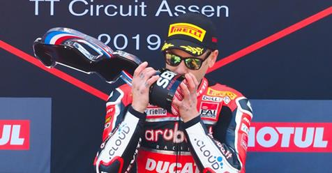 test Twitter Media - 💥 @19Bautista turns it up to eleven with terrific Assen Race 2 win!  Enjoy the highlights from #NLDWorldSBK 🇳🇱  📹 VIDEO | #WorldSBK  https://t.co/cktHZ7Xmzx https://t.co/uSQhB1PYVM