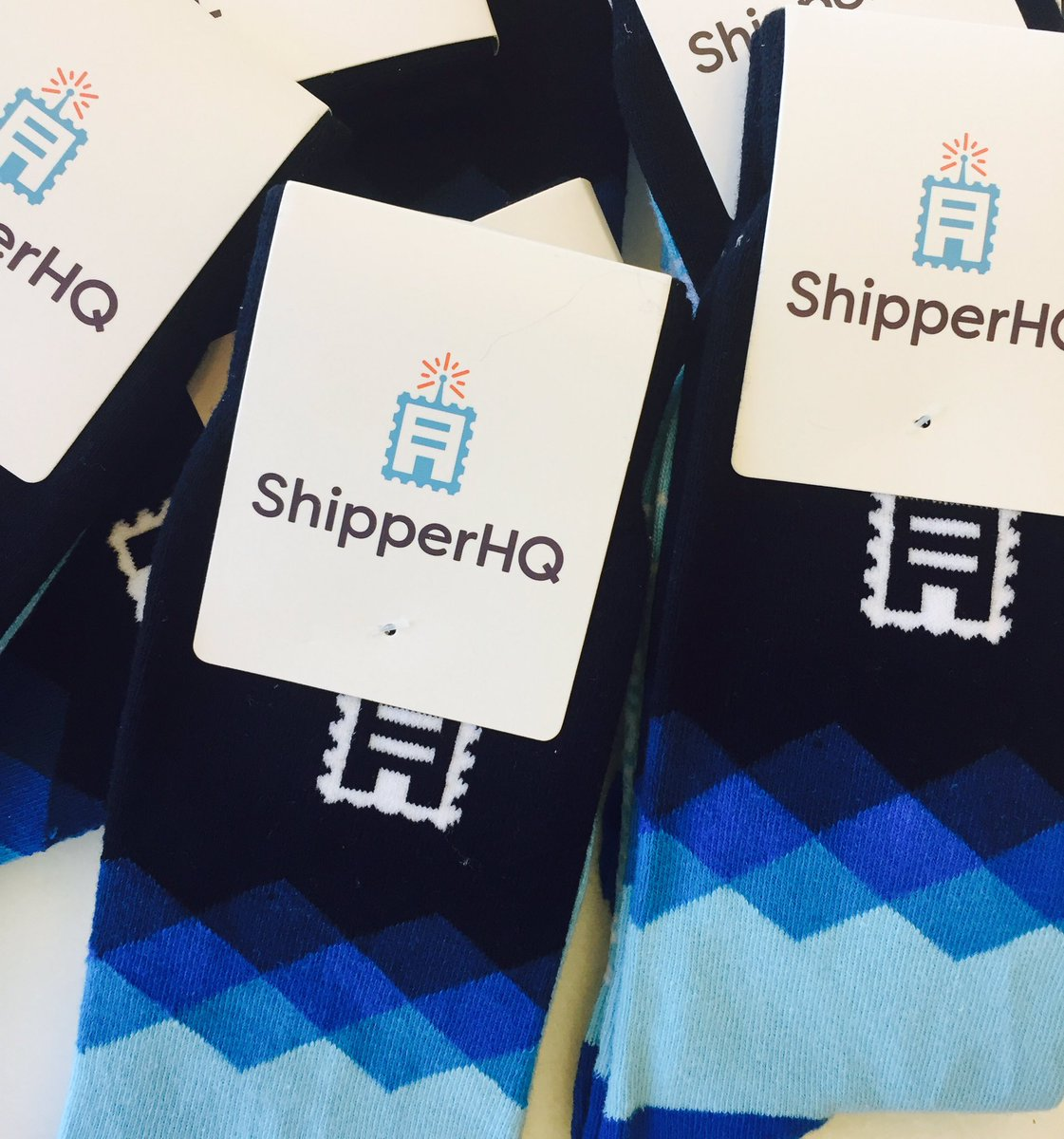 ShipperHQ: Our sock #swag game is strong this year at #MagentoImagine.  Who else wants a pair? 🙋🏽🙋🏼♂️ https://t.co/ViVXytxA81