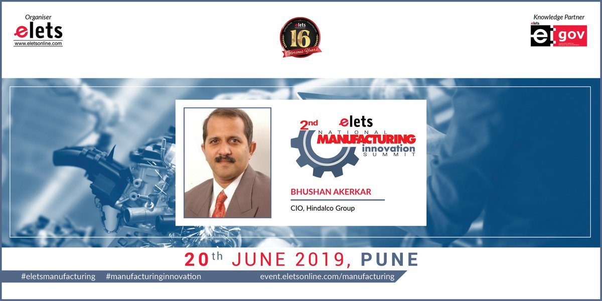 test Twitter Media - We are glad to welcome Bhushan Akerkar, CIO, Hindalco Group, as our speaker at 2nd Elets National Manufacturing Innovation Summit in Pune on 20 June, 2019   For more info log on to: https://t.co/1a5zhHbD6j   #Artificialintelligence #robotics   @SAVDAGREAT @ravigupta1000 https://t.co/HCw29BNDsO