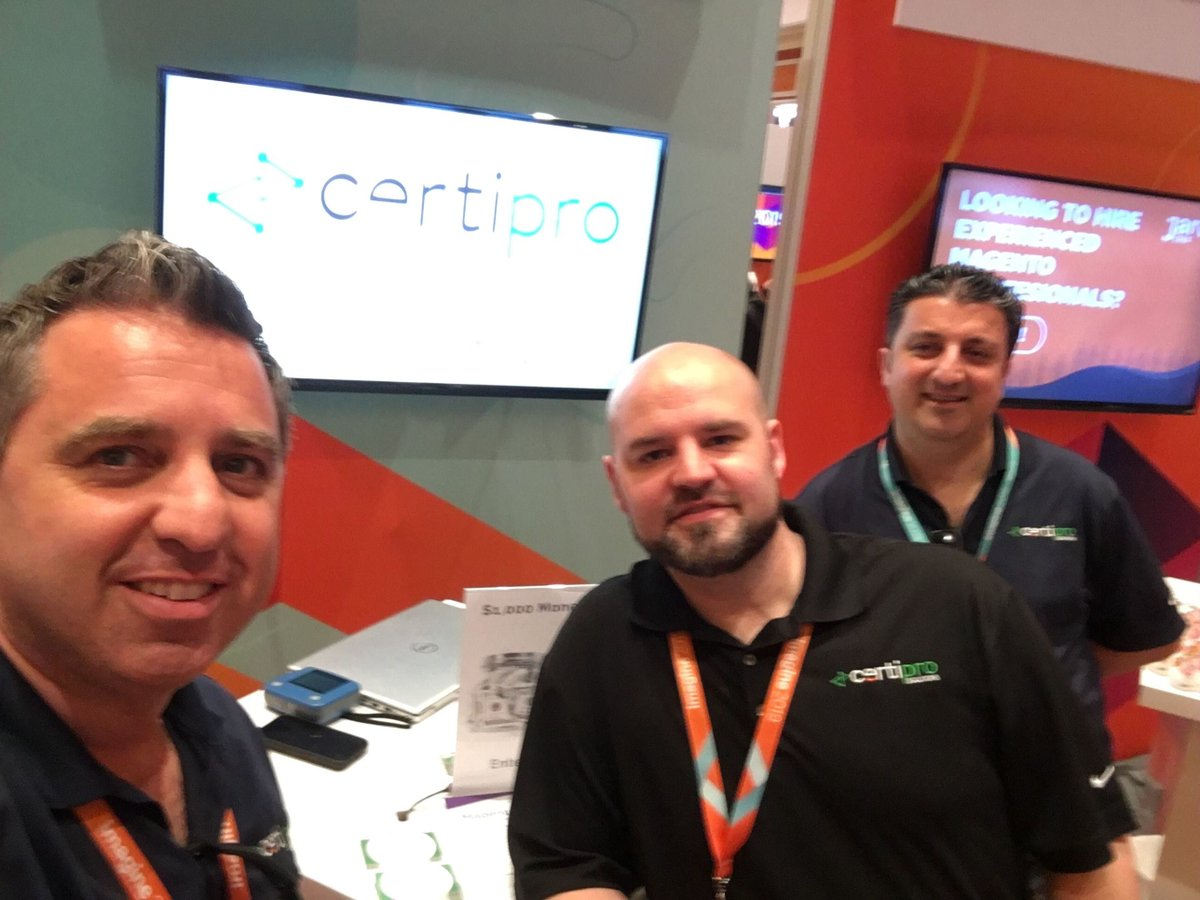 CertiProS: Opening day at #MagentoImagine drop by booth #706 and say hello! https://t.co/vJ5GC1VYfl