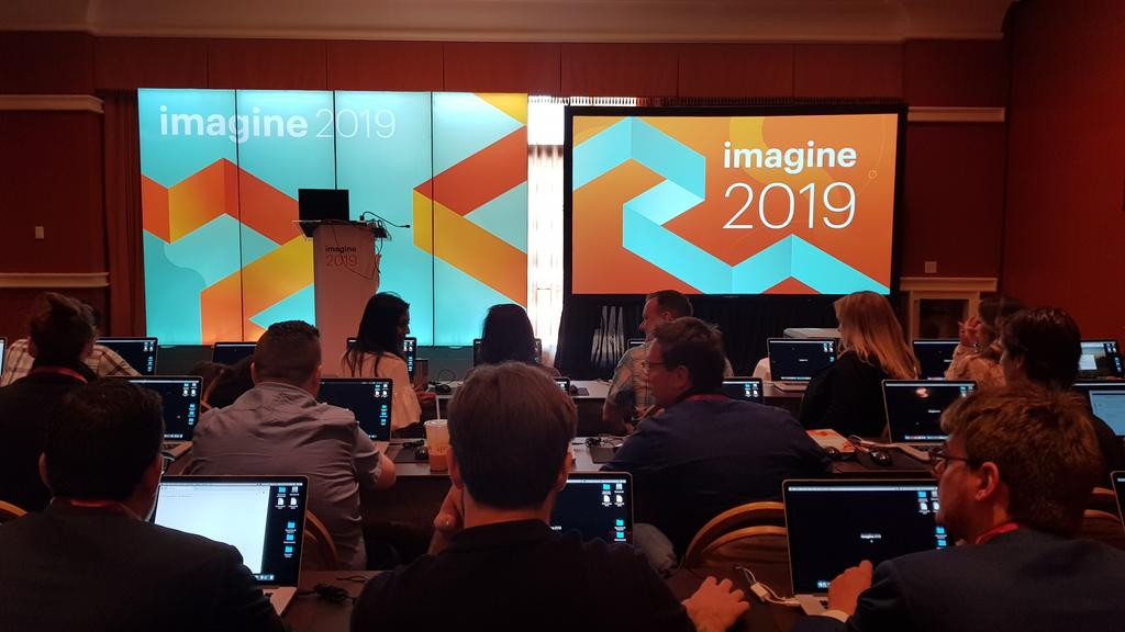 Space48ers: 1st session of the day at #MagentoImagine and we're in a lab learning about Magento Business Intelligence! https://t.co/2boa0ZmReT