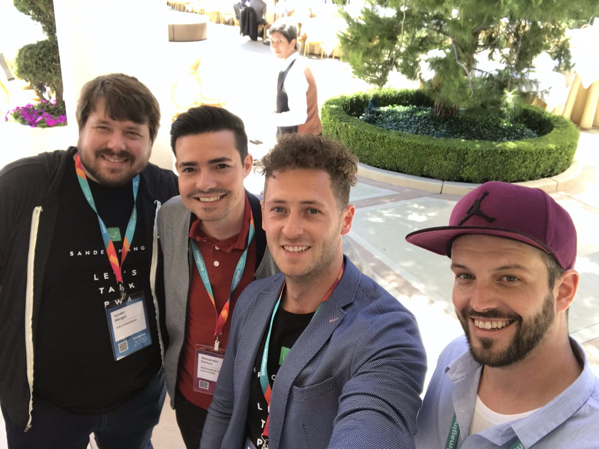 PatrickFriday20: #magentoimagine is insane, absolutely loving it. Thank you @alexanderdamm for meeting us! https://t.co/tYB56N6PnO