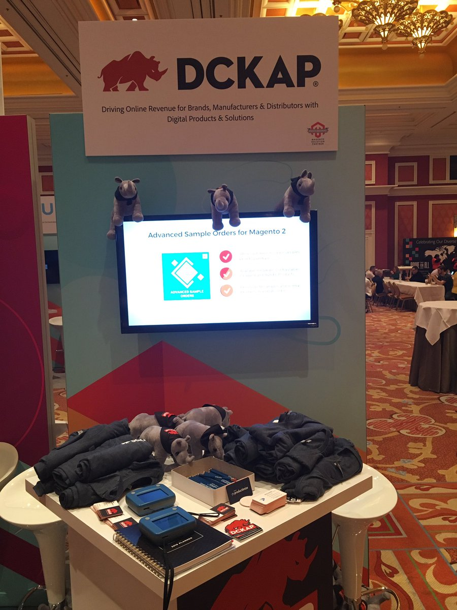 DCKAP: @magento Imagine Day 2 started. All set at the booth. Meet us at Aisle 700 #MagentoImagine https://t.co/OS9m03eVR0