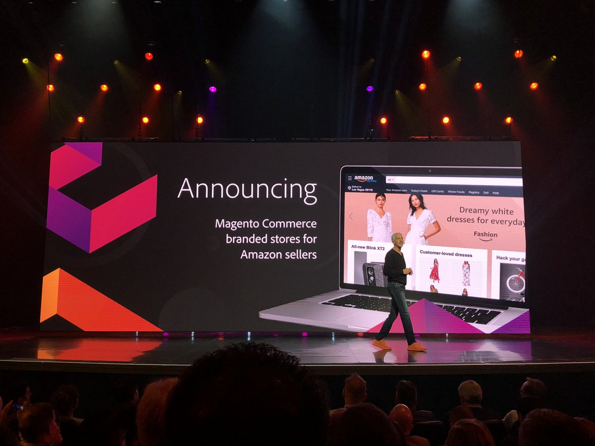 GoldieChan: 👏🏻NEW 👏🏻 ANNOUNCEMENT 👏🏻 @magento x @amazon yassss also @ns8inc now in the mix! #MagentoImagine https://t.co/TFVbOyWsVZ