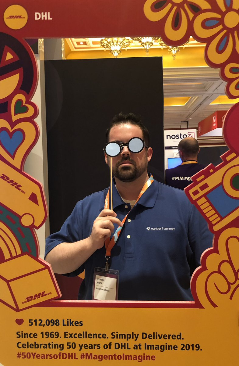 im_jay_squared: Enjoying the marketplace at #magentoimagine. I didn't know DHL was flower power company #50yearsofdhl https://t.co/Otea5Vx1Nk