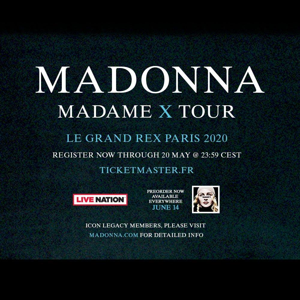 Madame ❌ Tour - Paris show dates unveiled: https://t.co/ZUlwMRcpFQ https://t.co/nRvhqJI7me