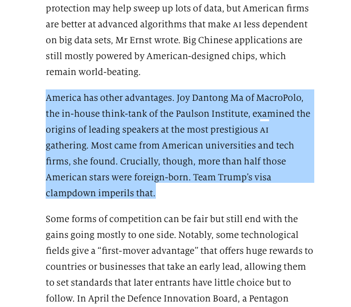 test Twitter Media - PI/@MacroPoloChina @JoyDantongMa's recent research on the US-China #AI talent dynamic was also cited in @TheEconomist special report: https://t.co/EobmIuuwut  Read her original analysis here: https://t.co/OtVxVo2SCS https://t.co/I6tT4gPev9