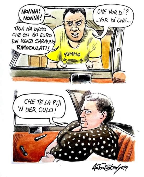 La morale è sempre quella, te lo dice Sora Lella.  #tria #governo #80euro #dimaio #conte #salvini #renzi  #satira #verdone [@CabrasAntonio] https://t.co/FNeSPyFYwI
