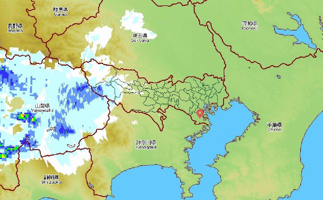 test ツイッターメディア - 16時15分の東京アメッシュ。もう奥多摩は降りだしている模様……… #ワンダ4 https://t.co/7Af2YCTz4B
