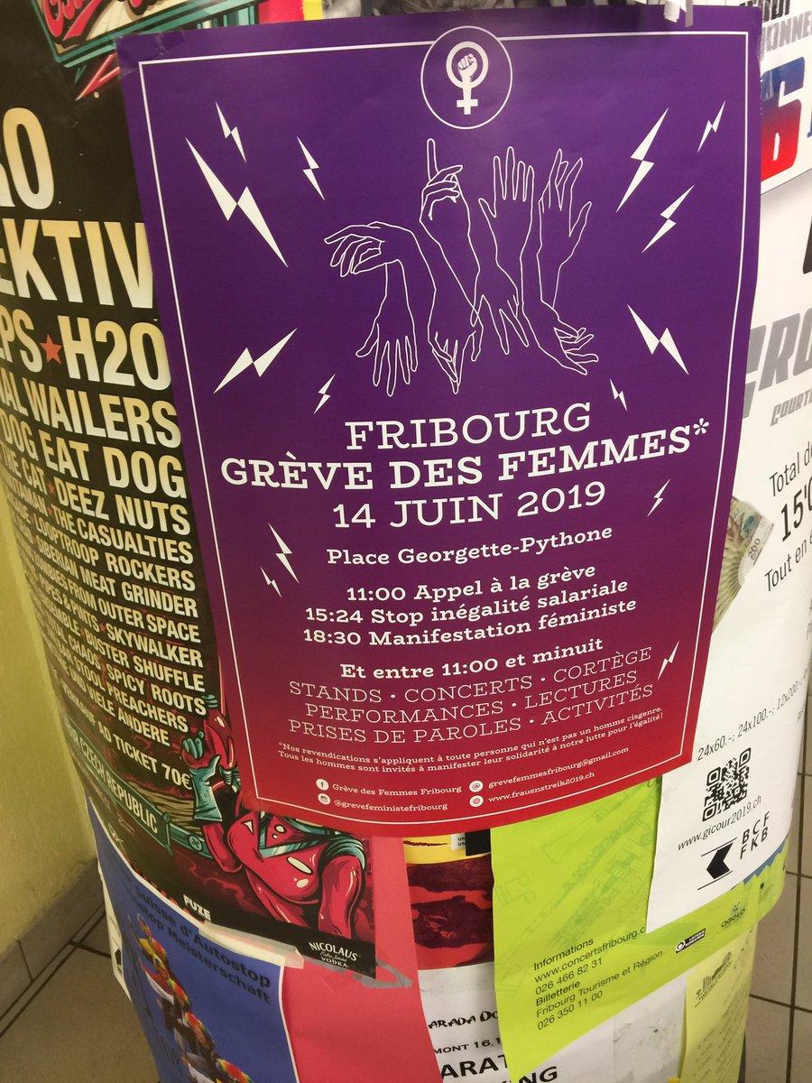 Tomorrow in Fribourg! Don't forget #strike #feminist #grevedesfemmes #inequalitycansuckit https://t.co/dboKjFI0rT