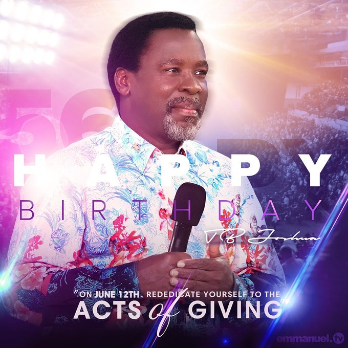Happy Birthday Commentary, T.B Joshua At 56