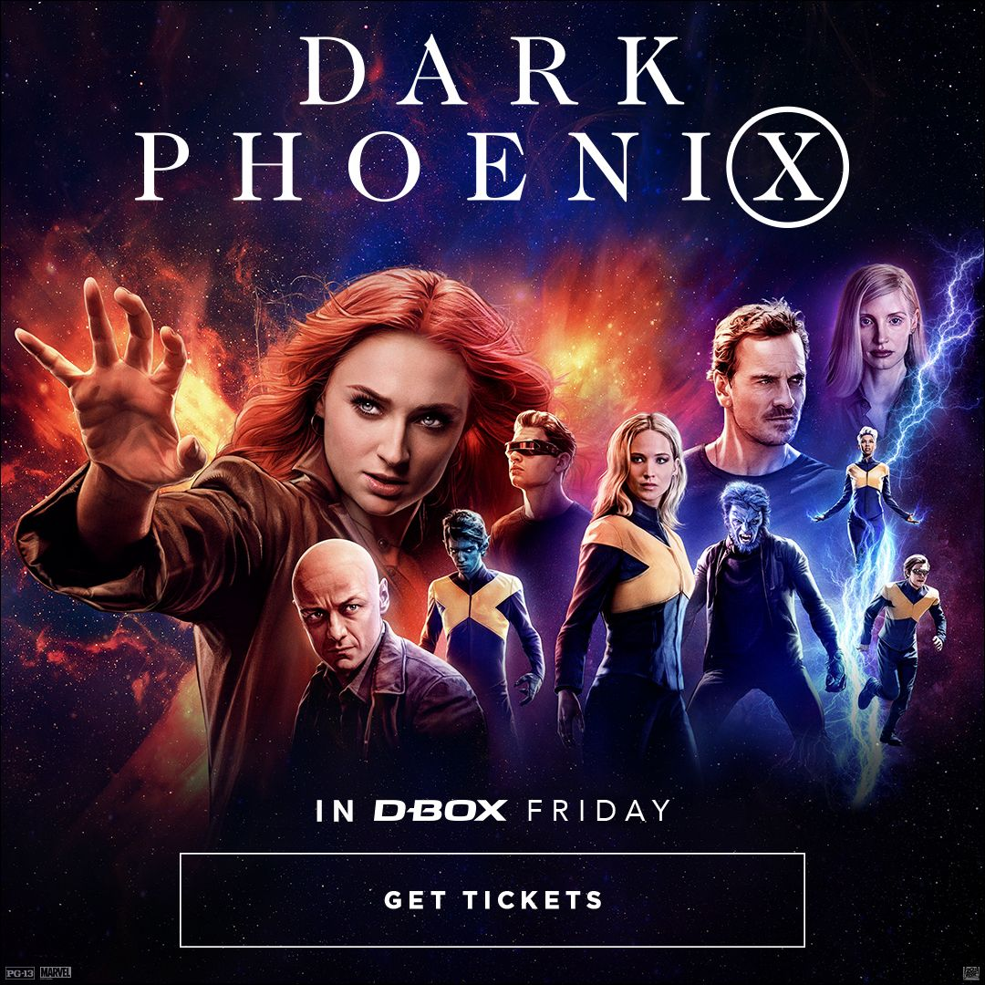 test Twitter Media - Don't miss the #XMen in their greatest battle yet.  Get your tickets now to feel the #DarkPhoenix in #DBOX this friday. https://t.co/d9pSy8wQpi  //  Réserver vos billets dès maintenant pour voir #PhoenixNoir en #DBOX ce vendredi. https://t.co/R9FmTmIY12