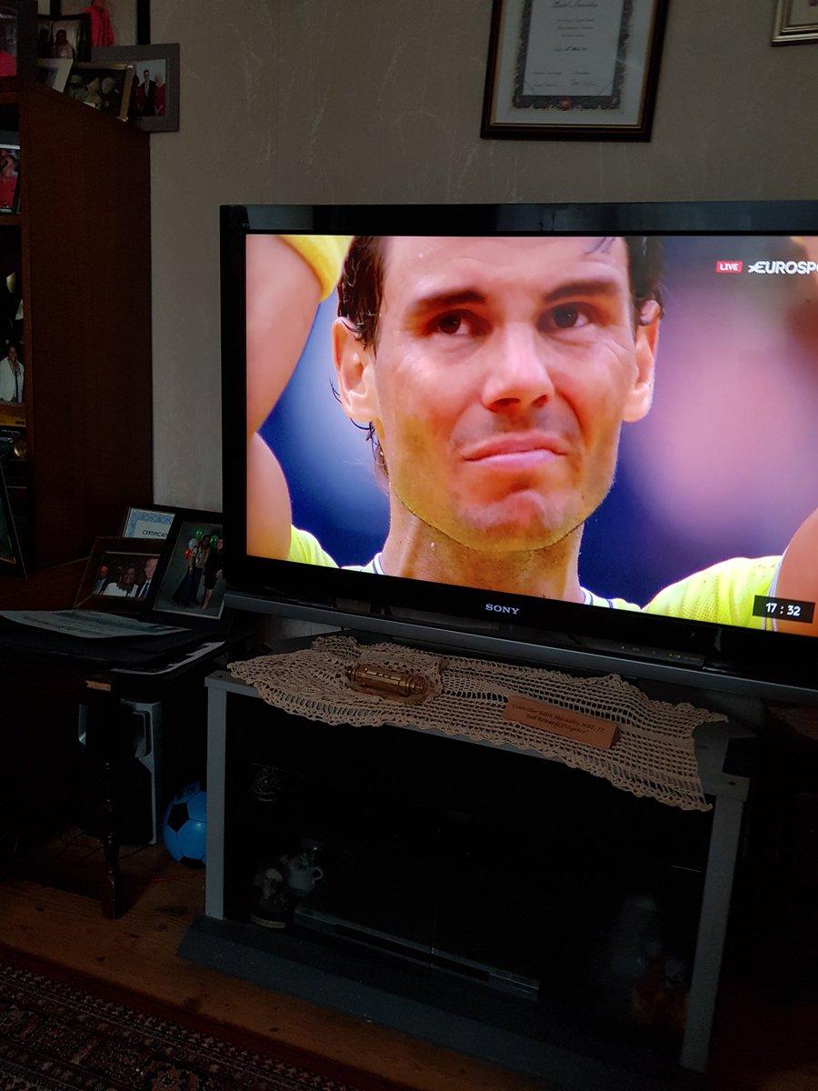 Co grandchildren to RafA 12 titles in Roland Garros.. Fantastic well done @RafaelNadal https://t.co/l6ILDKZPuj