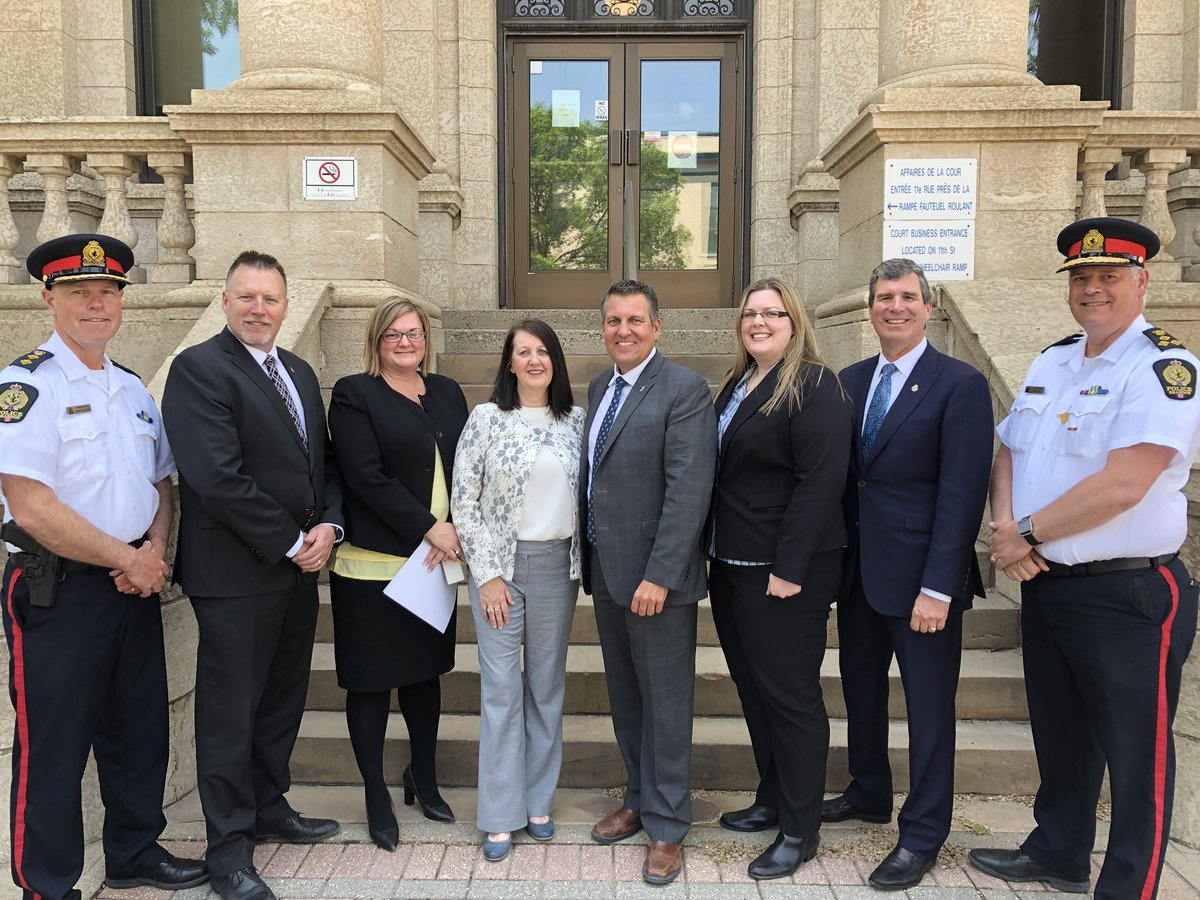 test Twitter Media - Our government is addressing the root causes of crime. Happy to join Chief Judge of the Provincial Court Margaret Wiebe, @LenIsleifson and @reghelwer as well as @BrandonPolice and the Addictions Foundation of Manitoba to announce a new Drug Treatment Court for Westman. #mbpoli https://t.co/fDNmSbLTaW