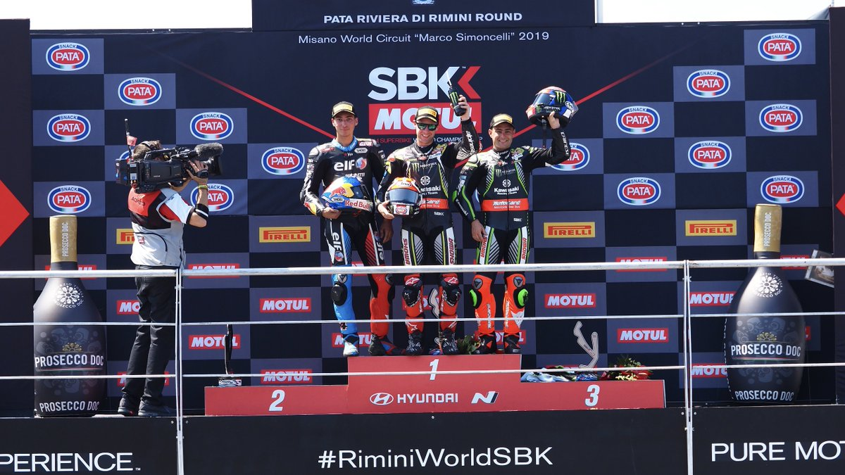 test Twitter Media - What did Misano's Race 2 podium say for themselves?  #RiminiWorldSBK🇮🇹  📹 INTERVIEW | #WorldSBK  https://t.co/i7ClqDcLQu https://t.co/dIr8gNj40I