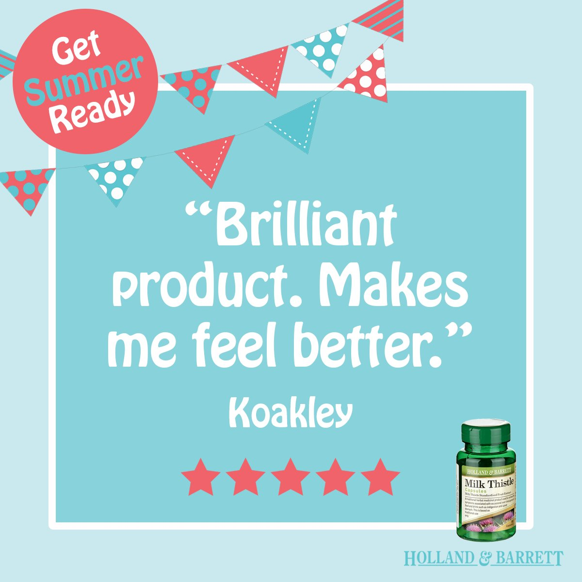 Koakley gave our Milk Thistle five stars! Have you tried it? https://t.co/IyFHhTLIog