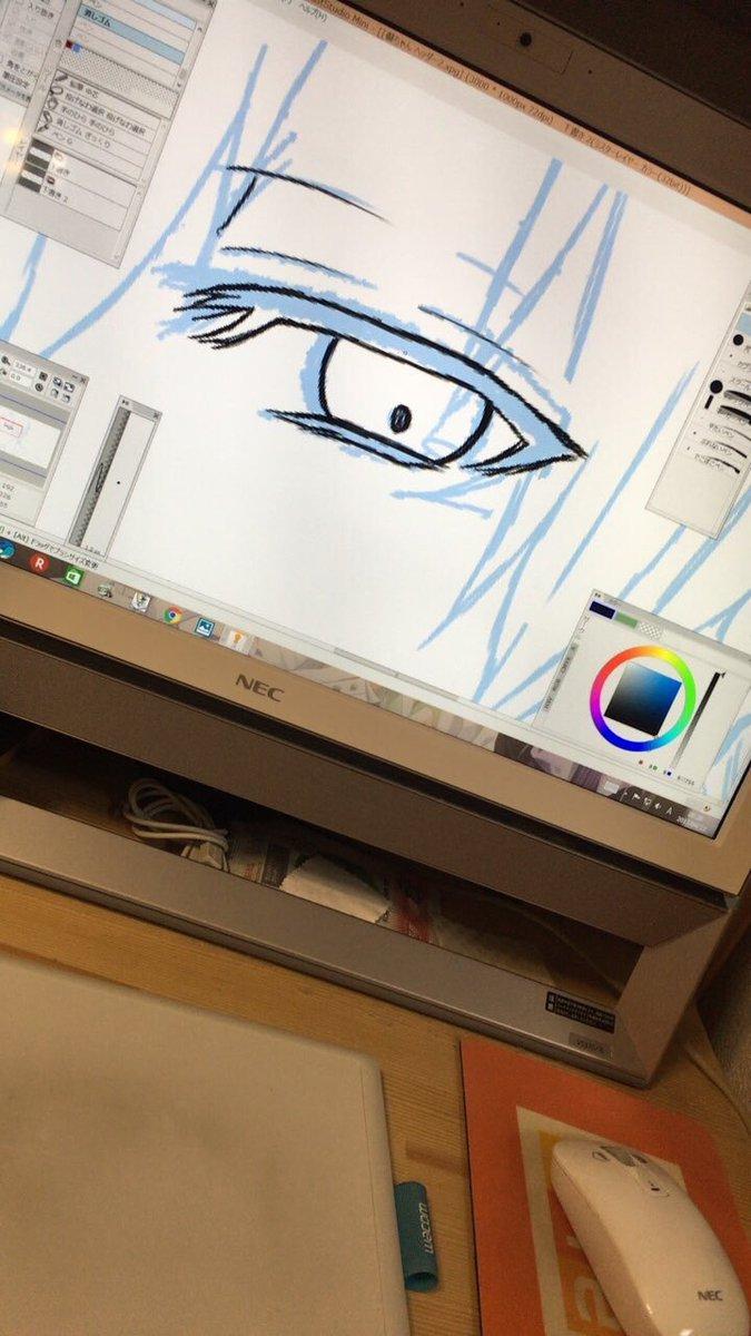 テスト終了✨ペンタブ解禁✨✨で、リクのやつ描いてたらソフトが強制終了して描き直しに…うぅ…(2回目)でもなんか分かんない