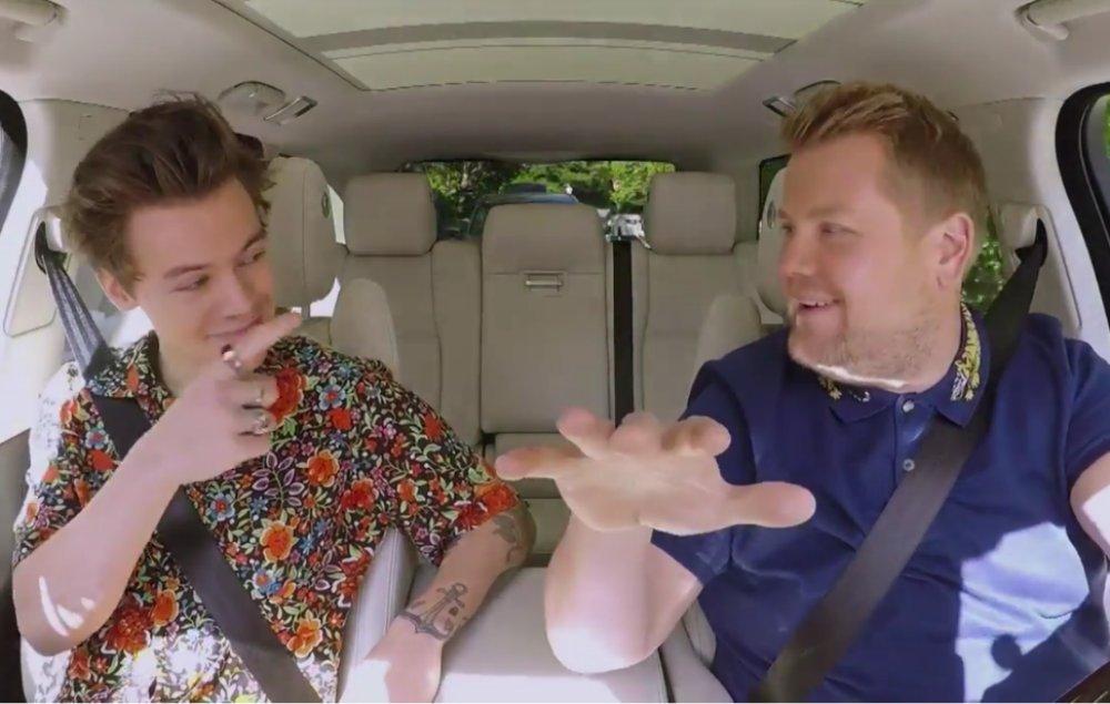 Watch Harry Styles' Carpool Karaoke with James Corden https://t.co/7P65G7gnLq #CarpoolHarryoke https://t.co/Vk2TstGXaf