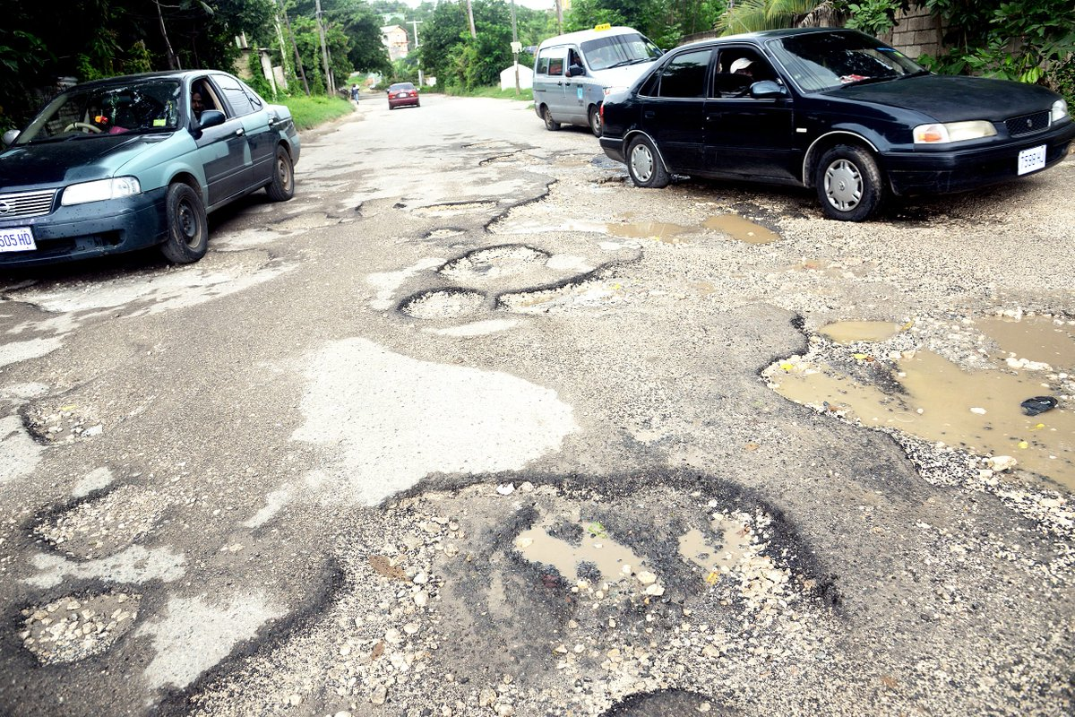 Costly waste ... Heavy rains leave recently fixed roads in deplorable state