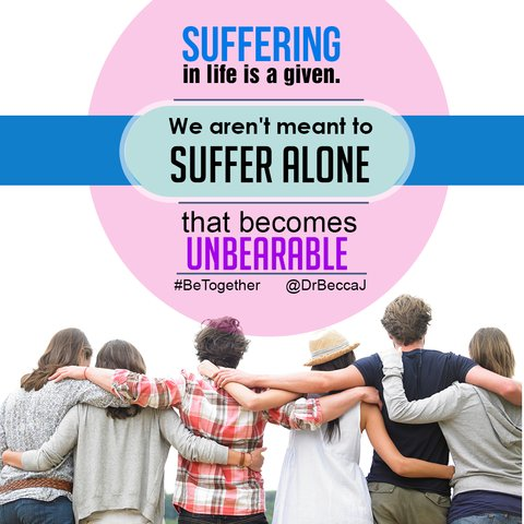 We aren't meant to suffer alone.  #BeTogether #Love # Companionship https://t.co/pQNEyDlxVg