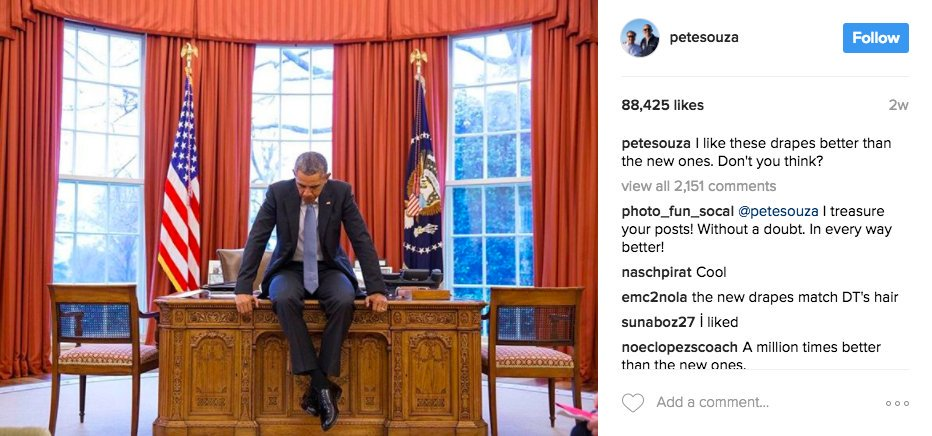 Former White House photographer continues Trump mockery with hand-holding photo of Obamas