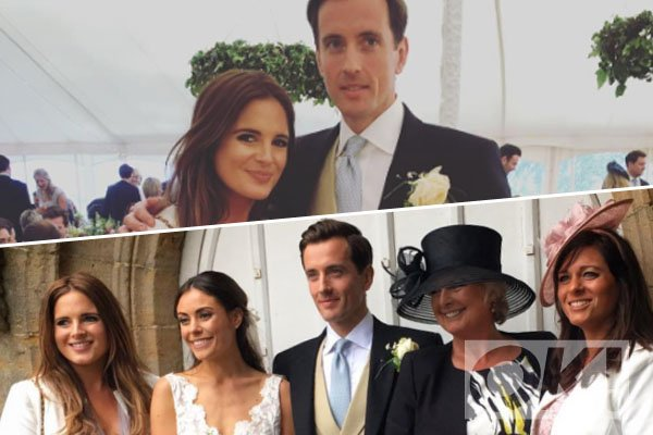 Binky and her sister show off MATCHING bumps at their brother's wedding