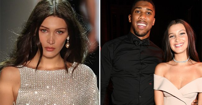 Hold up. What's REALLY been going on between Bella Hadid and Anthony Joshua...