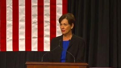 Kim Reynolds becomes Iowa's first female governor