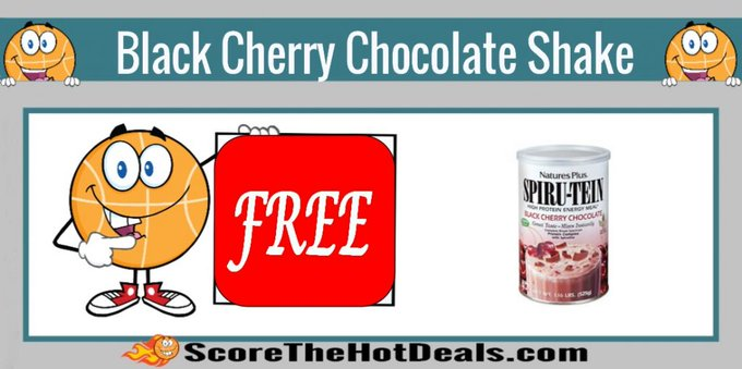 *FREE* Black Cherry Chocolate SPIRU-TEIN Shake Sample!free freesample freebies freebie
