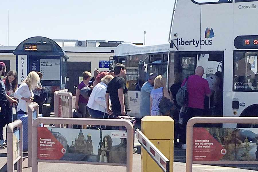 Ports arrange extra buses after 'lightning strike' by taxi drivers