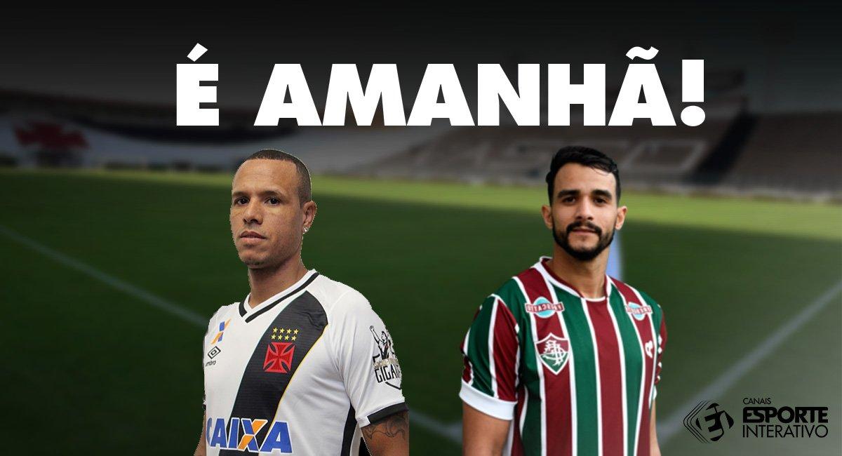 Amanhã tem @vascodagama e @FluminenseFC pelo Campeonato Brasileiro! Tem torcedor ansioso aí?