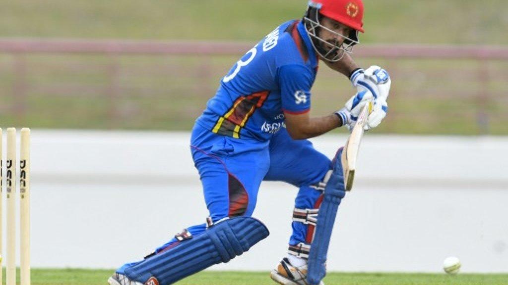Afghanistan 212-6 against West Indies in ODI