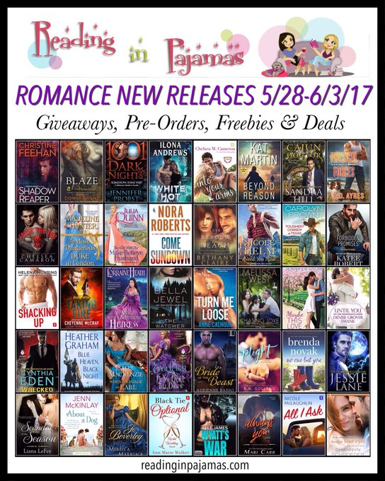 ROMANCE NewReleases 05/28-06/03/17 Giveaways PreOrders Freebies & Deals