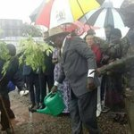 President Museveni attacked after watering plant during heavy rain (photo)