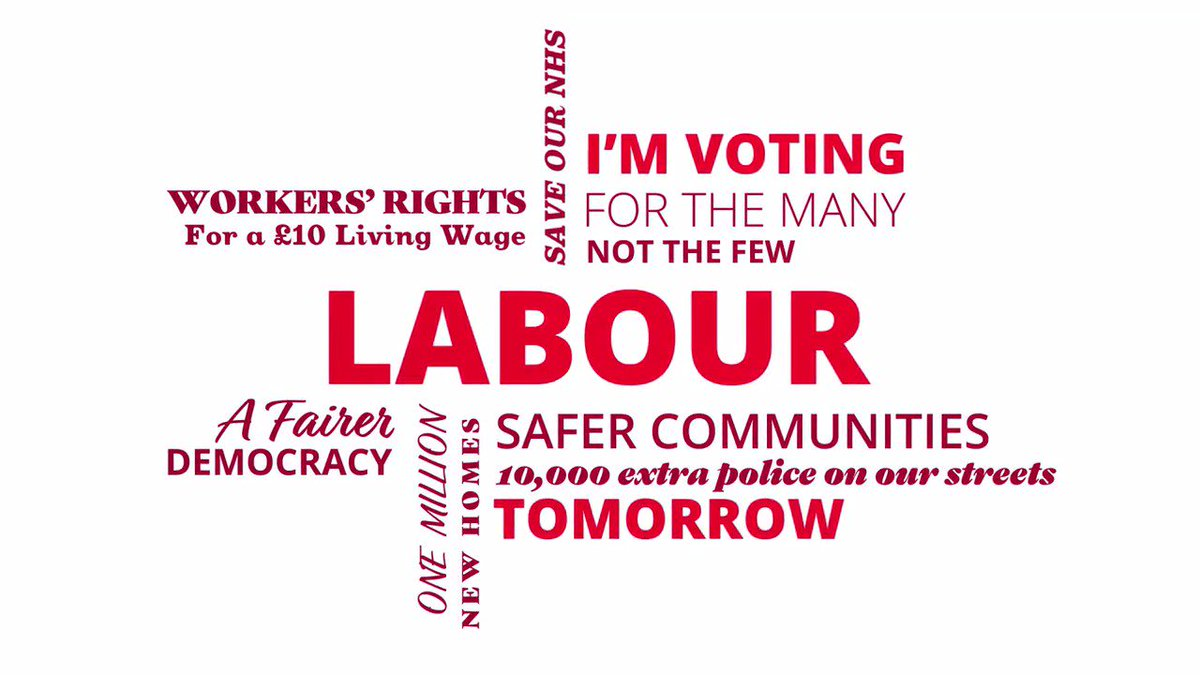 RT @UKLabour: If you're voting Labour tomorrow, show your support and RT this ↓ #VoteLabour #ForTheMany https://t.co/O6PpWRHTqP